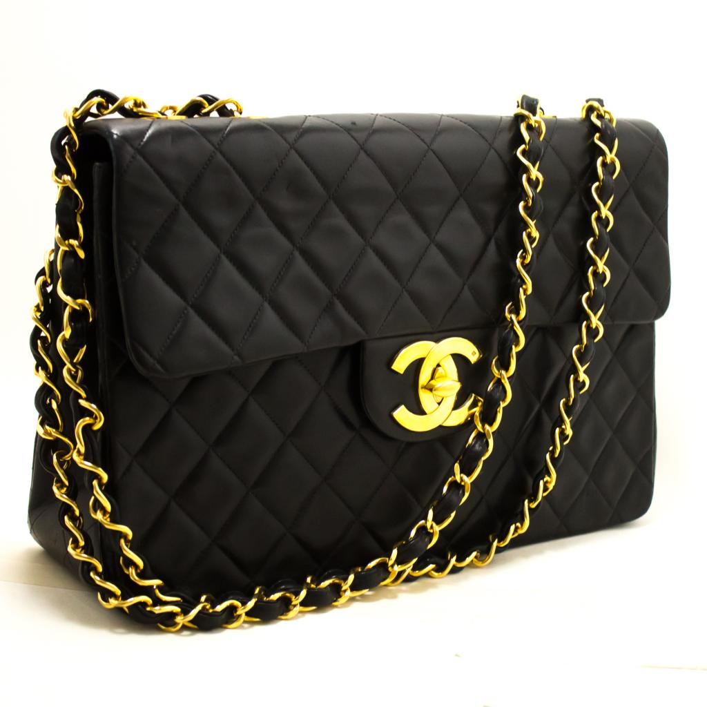 ae4908896b52 Details about R14 CHANEL Authentic Jumbo 13